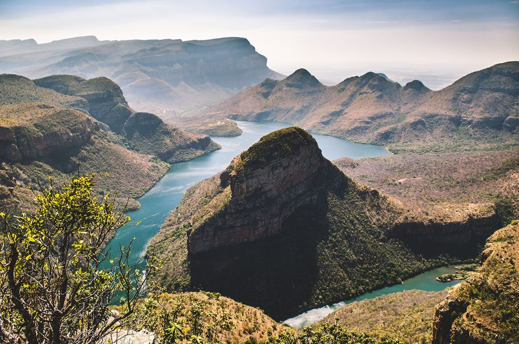 Blyde river canyon, viewpoint to the canyon. Mpumalanga