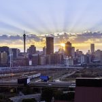 Johannesburg sunrise sunburst