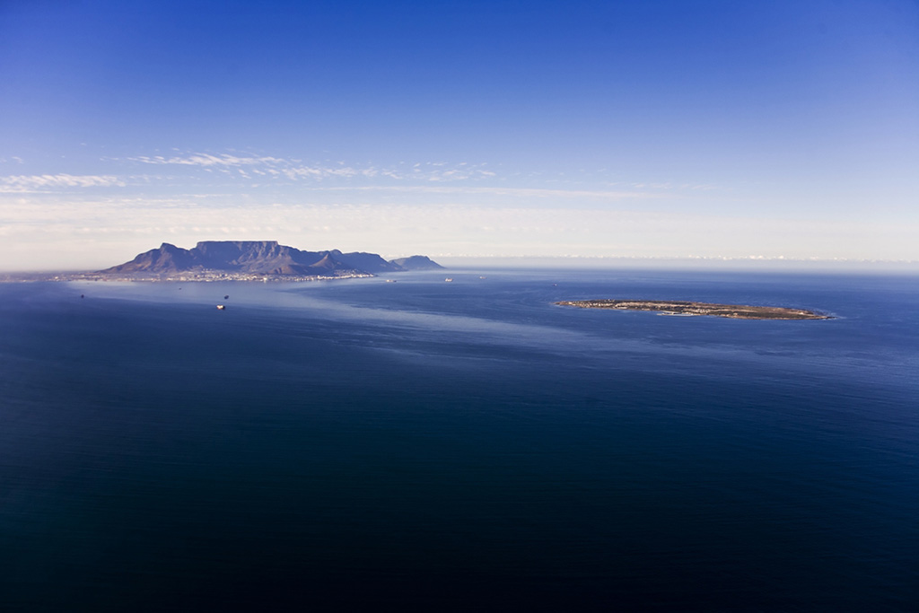 Robben Island and Table Mountain, Cape Town