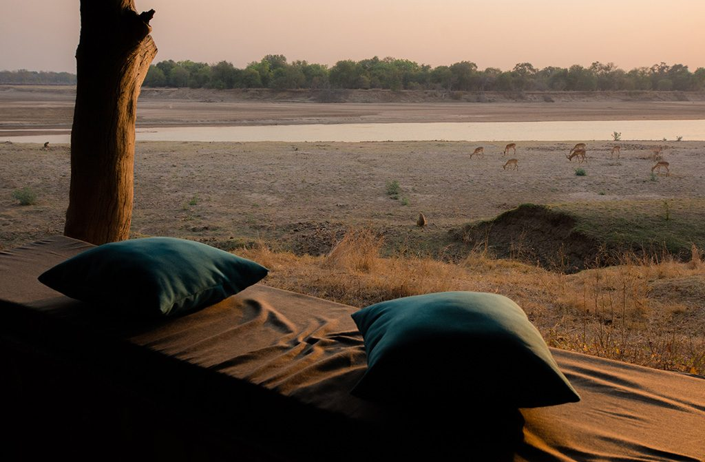 View over Luangwa river, South Luangwa