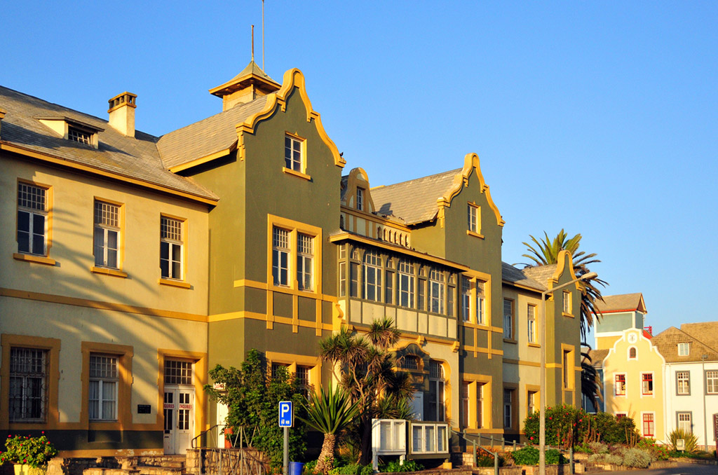 Swakopmund, Namibia: old Municipality Building, erected in 1907 by the Germans as a Post Office, later used by the magistrates and administration until 1961, it was used as the town hall until 2014