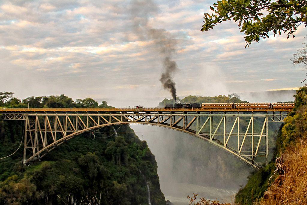 Train at Victoria falls