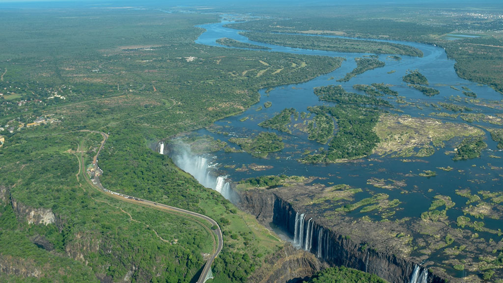 Aerial View of Victoria Falls