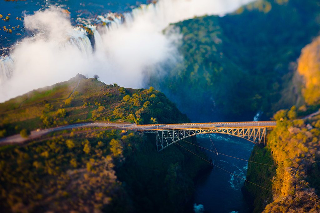Bridge at Victoria Falls, a bungee-jumping hot spot