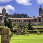 The Union Buildings and gardens in Pretoria, South Africa.