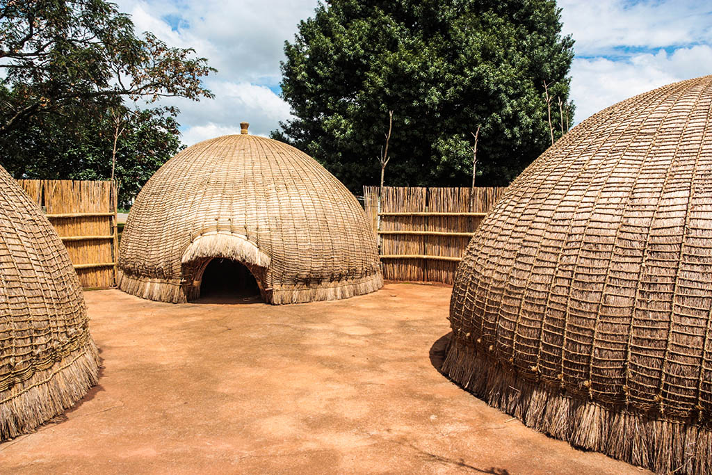 Traditional zulu thatched huts