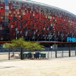 Exterior view of FNB Stadium, the biggest african stadium